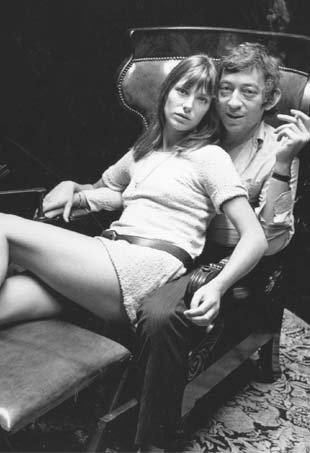 Jane Birkin, and Serge Gainsbourg; Image: Getty