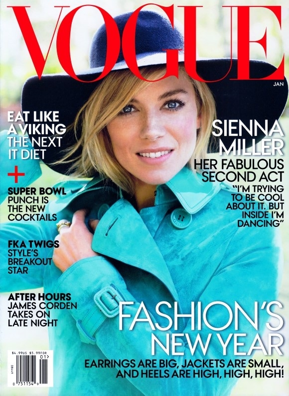 US Vogue January 2015 Sienna Miller Mario Testino