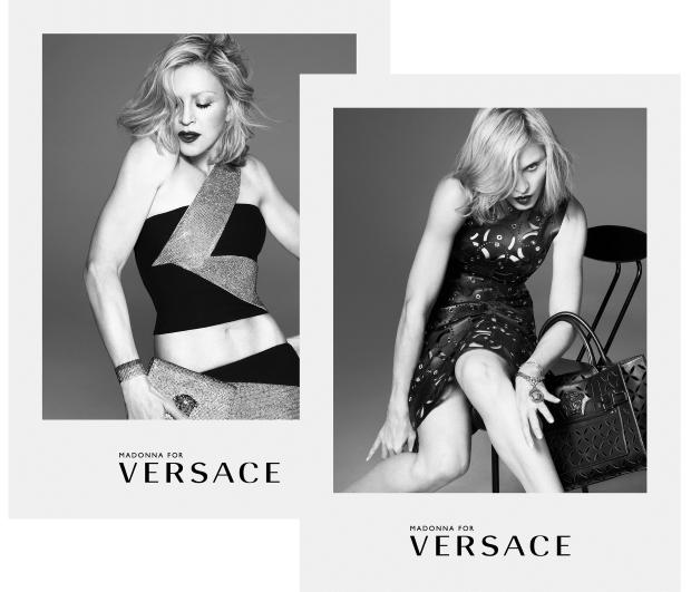 Ad Campaign Versace Spring 2015 Madonna