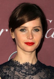 Felicity Jones Does Classic Red Carpet Glamour with a French Girl Twist