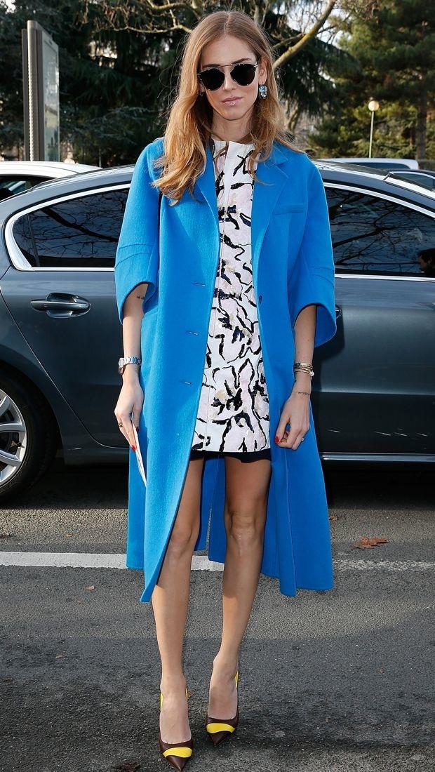 Chiara Ferragni wears Christian Dior for Dior Homme Fall 2015 show