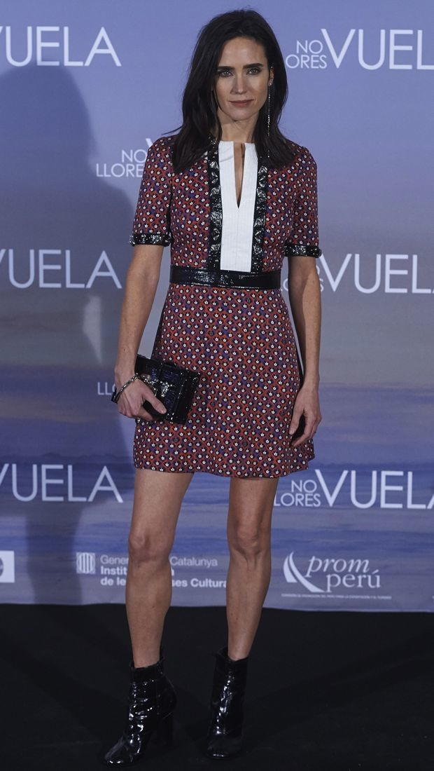 Jennifer Connelly wears Louis Vuitton in Madrid