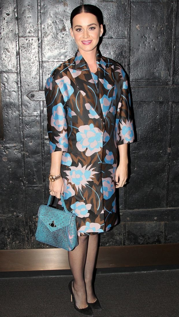Katy Perry wears a statement-making floral Marni coat