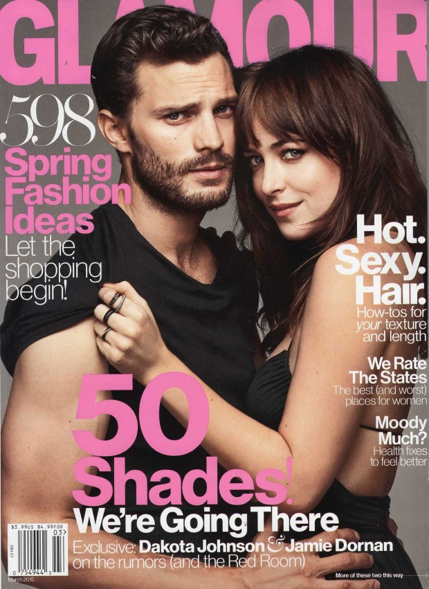Glamour March 2014 Dakota Johnson Jamie Dornan