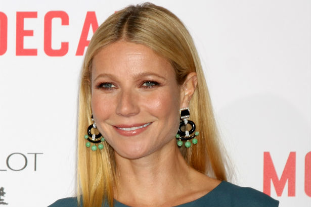 Gwyneth Paltrow in a teal dress