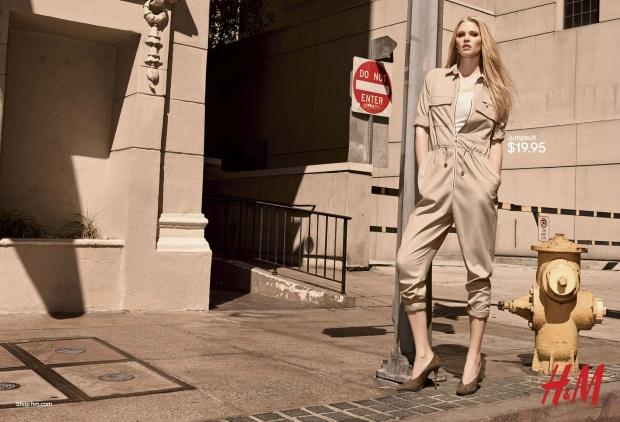 Ad Campaign H&M Spring 2015 Lara Stone