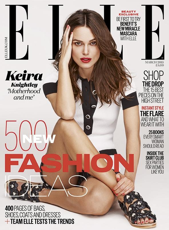 UK Elle March 2015 Keira Knightley