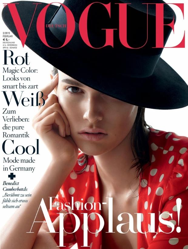 Vogue Germany February 2015 Vanessa Moody
