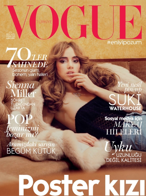 Vogue Turkey February 2015 Suki Waterhouse