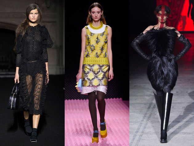 The Hits: Simone Rocha, Mary Katrantzou, Gareth Pugh. Images via IMAXtree.