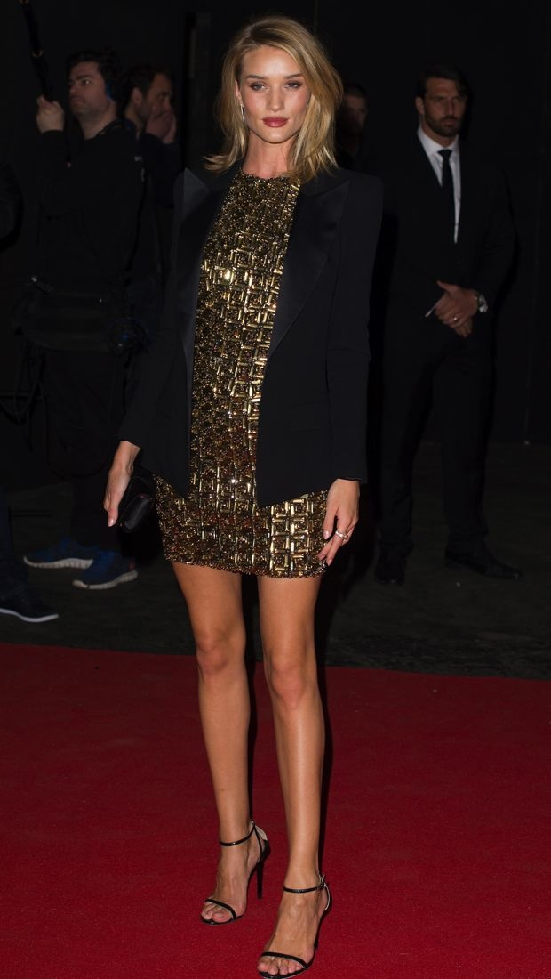 Rosie Huntington-Whiteley wears Antonio Berardi dress to BRIT Awards after-party