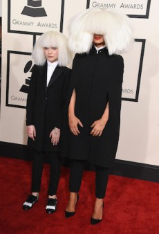 Sia & 12-Year-Old Maddie Ziegler Boss It Up on the 2015 Grammys Red Carpet