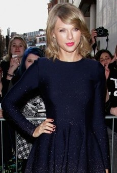 Taylor Swift Shows Fans Some Love in a Gradient Embellished Dress