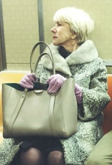 Helen Mirren Looks Way More Glamorous Taking the Subway Than We Ever Did