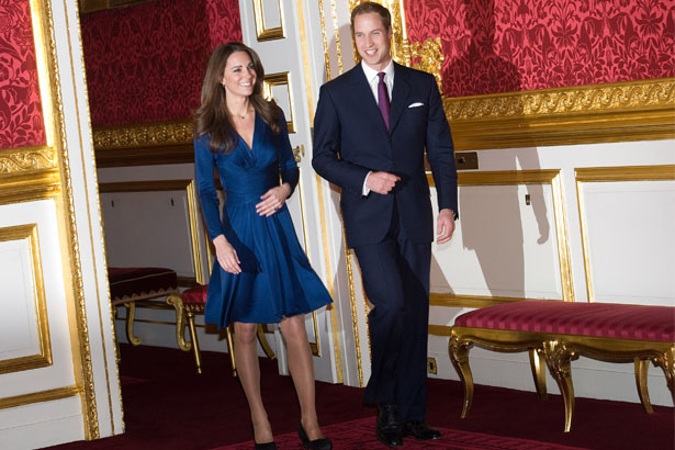 Kate Middleton (wearing Issa) and Prince William; Image: Getty