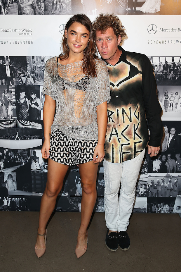 Bambi Northwood-Blyth and Dan Single at MBFWA 2015 Schedule Launch at Bondi Icebergs