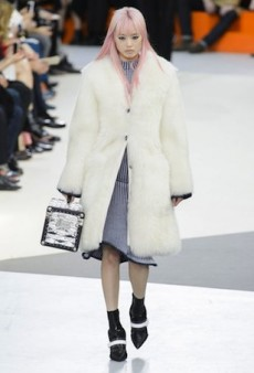 Aussie Pink-Haired Model Fernanda Ly Walks Louis Vuitton
