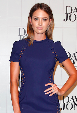 Jesinta Campbell at David Jones fashion show in Dion Lee