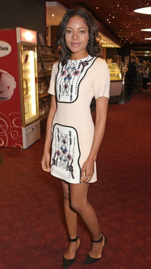 Naomie Harris sports a patterned Peter Pilotto dress to the Into Film Awards
