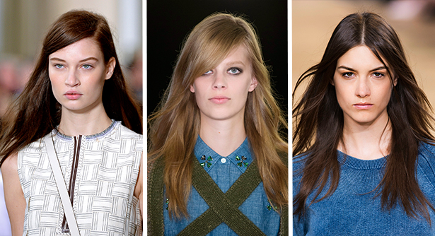 spring 2015 hair trends rough dried hair rykiel chloe tory burch