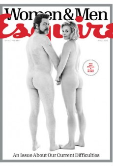 Link Buzz: Nick Offerman and Chelsea Handler Are Naked on Esquire, Is Kim Kardashian's Hair Just a Wig?