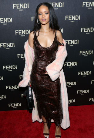 Rihanna Fendi red carpet
