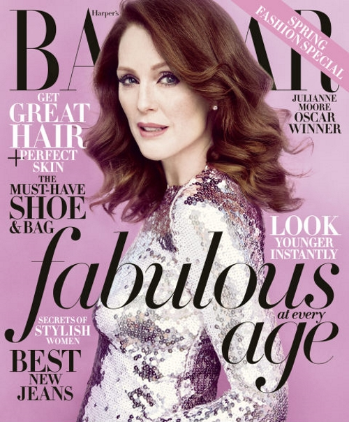 US Harper's Bazaar April 2015 Julianne Moore Camilla Akrans