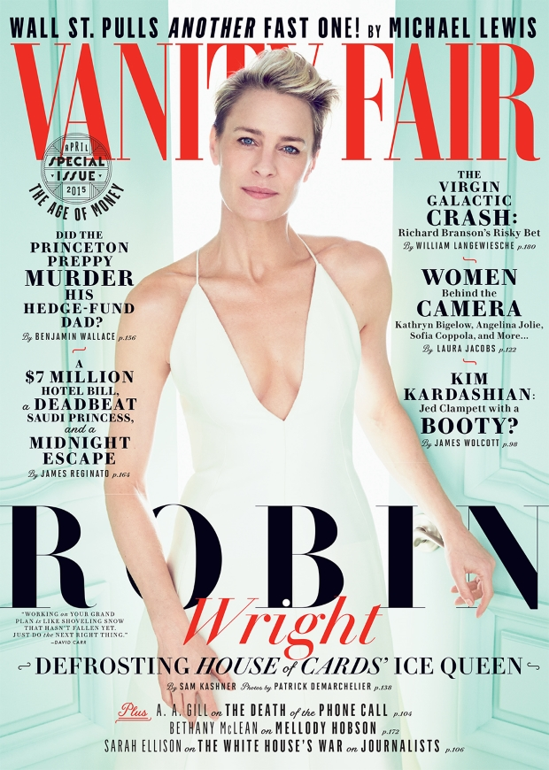 Vanity Fair April 2015 Robin Wright Patrick Demarchelier
