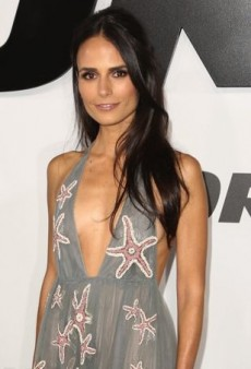 Jordana Brewster Shows a Little Leg in Valentino at 'Furious 7' Premiere