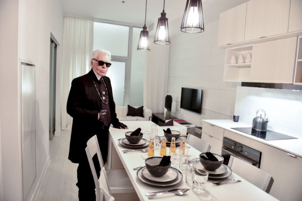 Karl Lagerfeld in Toronto. Photo courtesy of Art Shoppe Lofts and Condos