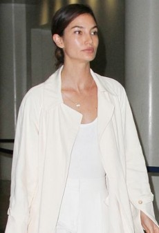 Lily Aldridge Takes to the Skies in Some Nifty Neutral Separates
