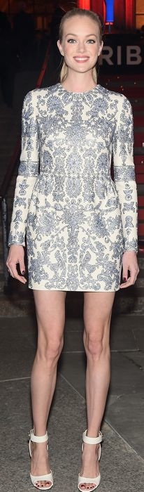 Lindsay Ellingson in Valentino at the Tribeca Film Festival