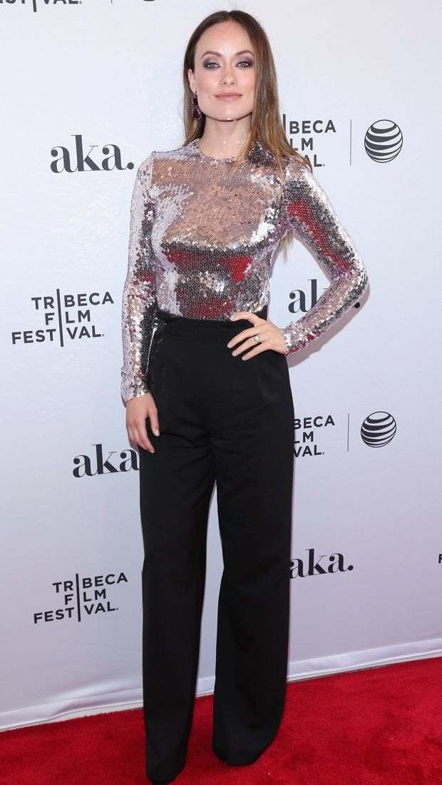 Olivia Wilde sparkles in a Christian Dior outfit at the Tribeca Film Festival
