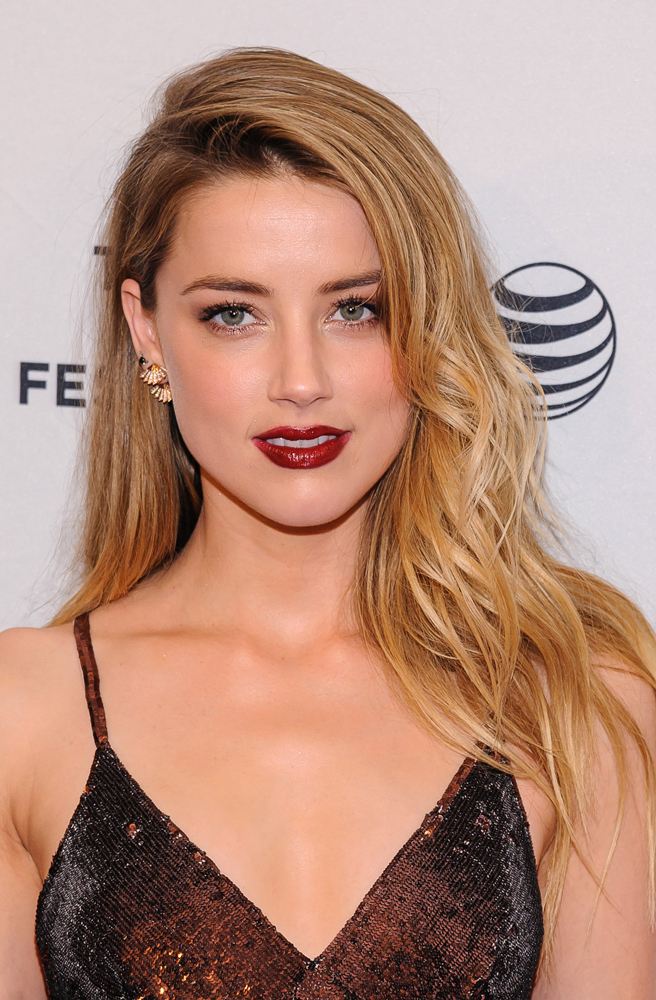 Amber Heard beach waves
