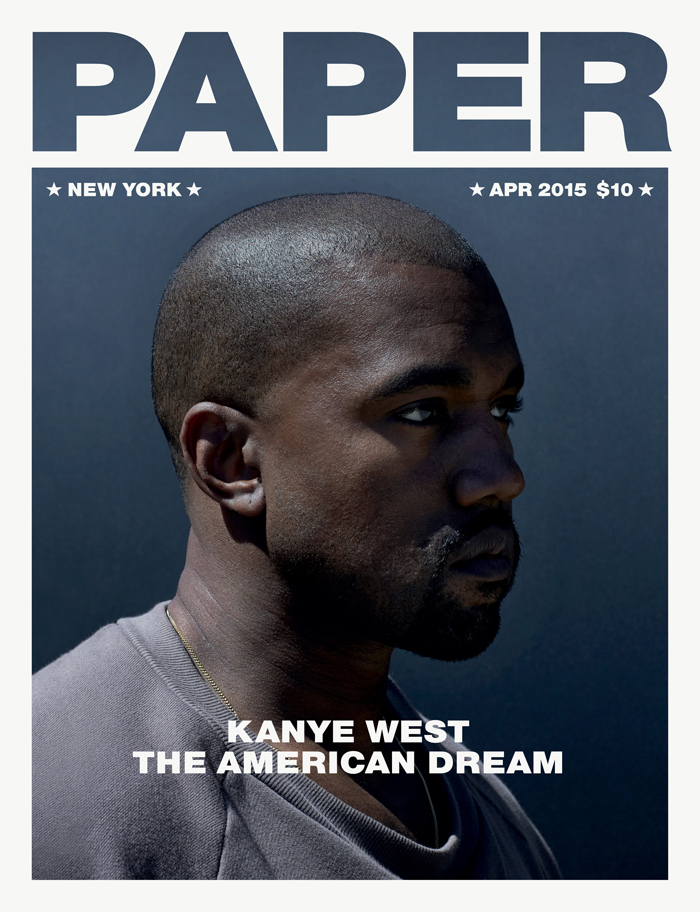 Kanye West Paper Magazine Cover