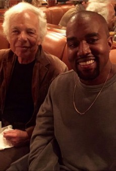 Kanye West Bonds with 'Daddy' Ralph Lauren at the Polo Bar