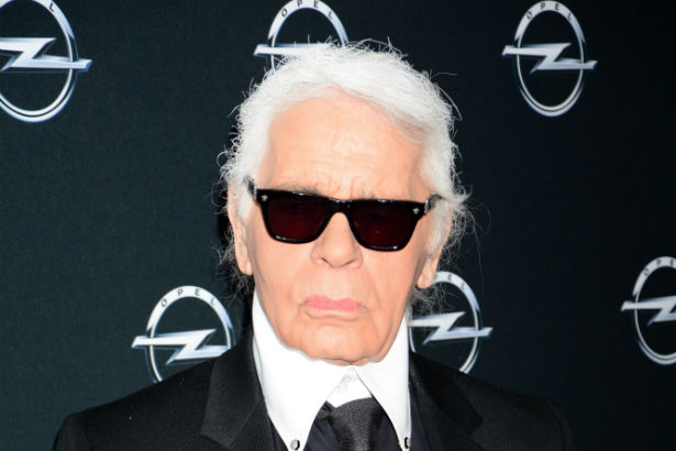 Karl Lagerfeld red carpet