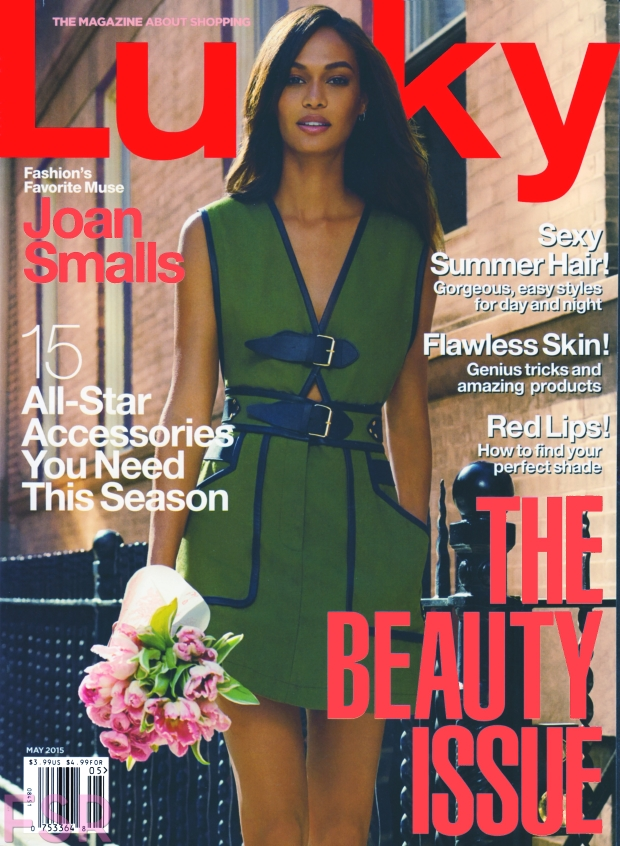 Lucky Magazine May 2015 Joan Smalls Miguel Reveriego