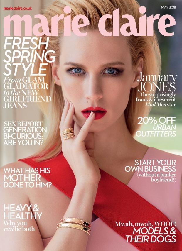 UK Marie Claire May 2015 January Jones