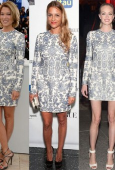 Style Showdown: A Trio of Blond Stars Wear Embroidered Valentino and More Matching Celebs