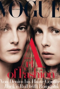 Edie and Olympia Campbell Give Us the Creeps on Vogue Germany (Forum Buzz)
