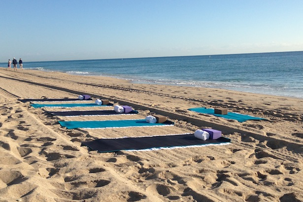 Sunset yoga at W Fort Lauderdale
