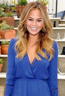 Chrissy Teigen Shows a Whole Lot of Leg in Lovers + Friends