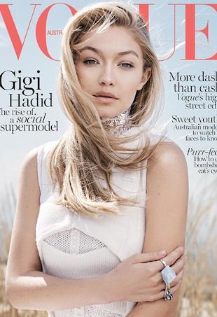 Gigi Hadid Vogue Australia