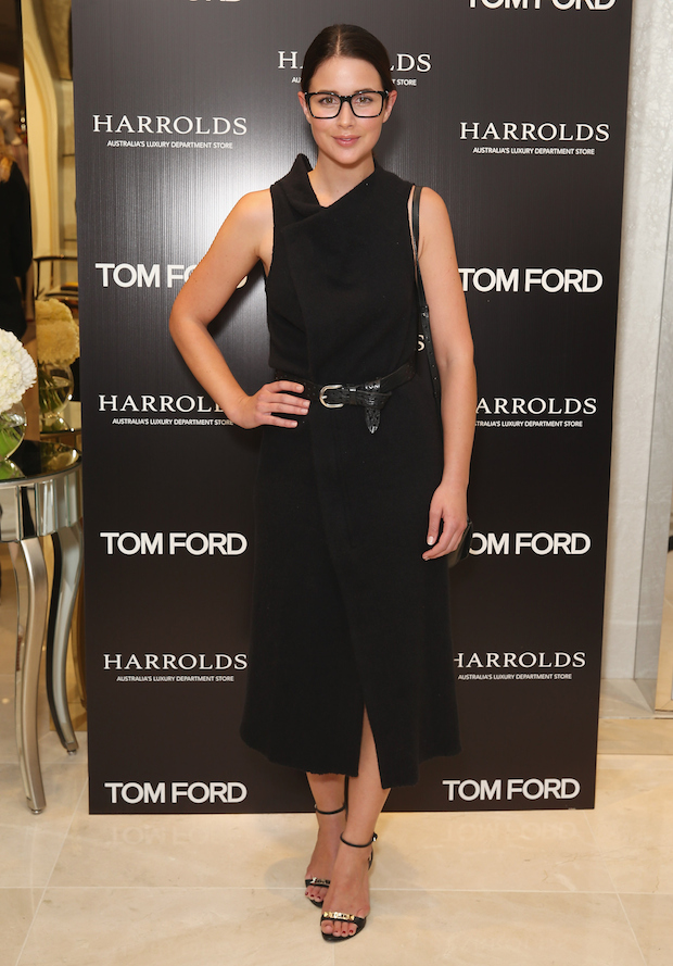Sara Donaldson at the Tom Ford launch event