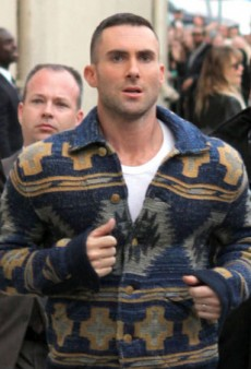 Adam Levine Gets Sugar Bombed While Signing Autographs