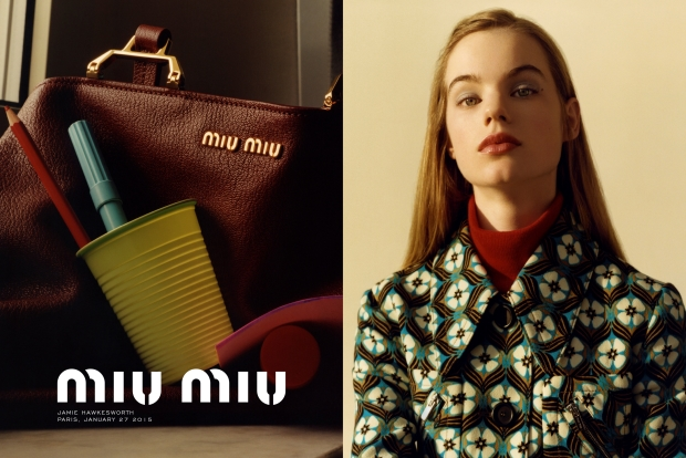 Miu Miu Pre-Fall 2015 Ad Campaign by Jamie Hawkesworth