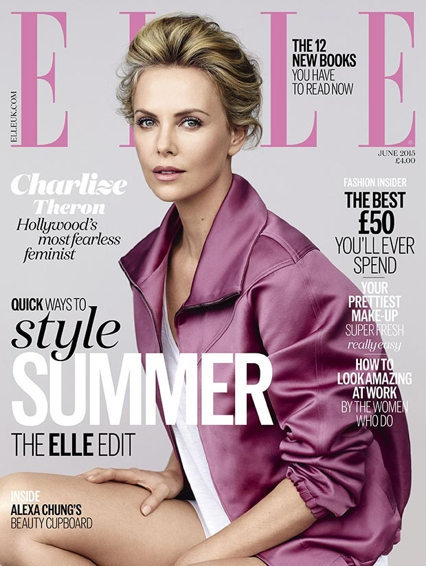UK Elle June 2015 Charlize Theron by Bjarne Jonasson Theron by