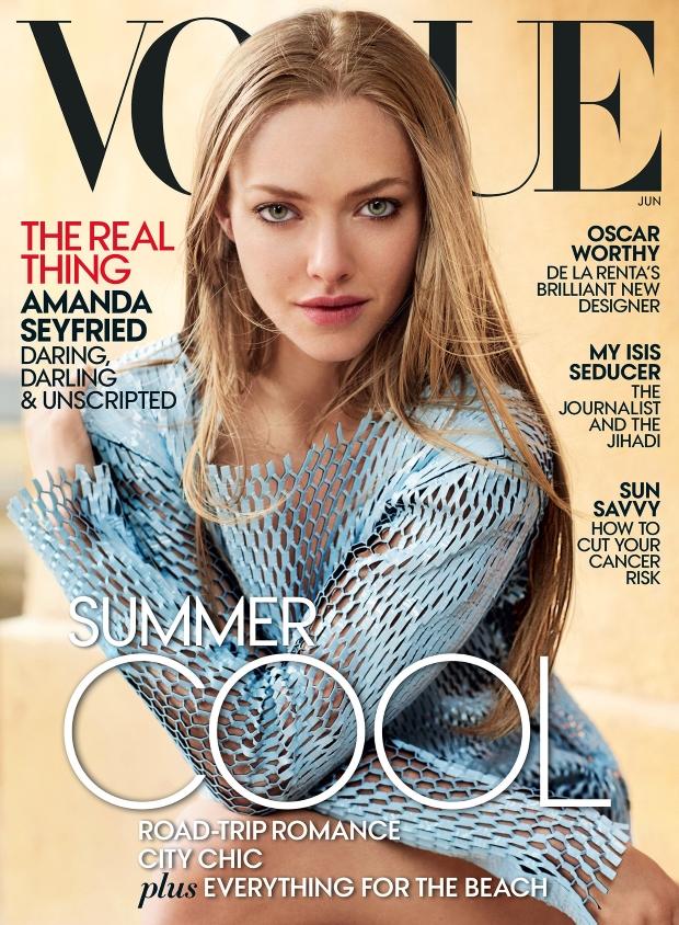 US Vogue June 2015 Amanda Seyfried by Mario Testino
