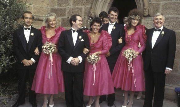 Elton John S Bridesmaid Is Ing Her Iconic 80s Dress On Ebay Thefashionspot